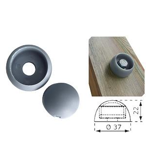 Abdeckkappe 8/10mm grau Kunststoff 1 Stück