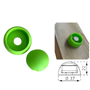 Abdeckkappe 8/10mm apfelgrün Kunststoff 1 Stück