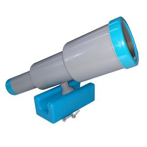 Teleskop-Fernrohr groß grau/türkis