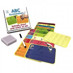 Lernspiel Buchstaben Wisch-und-Weg Lernset Einschulung Kinder Geschenk Lernen