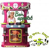 Kinderküche Spielküche aus robustem Kunststoff mit Zubehör
