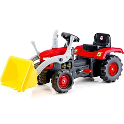 Traktor rot mit gelber Schaufel Frontlader Kindertrekker