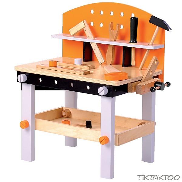 Kinder Werkbank aus Holz mit Werkzeug Holzwerkbank Kinderwerkbank ...