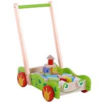 Baby Walker Laufwagen Frosch Gehfrei Activ Lauflernwagen Lauflernhilfe Holz mit bu
