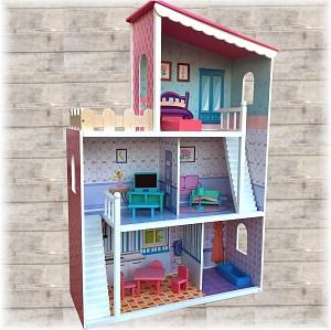 XXL Großes Puppenhaus aus Holz DREAM VILLA Barbiehaus Puppenhaus Puppenstube