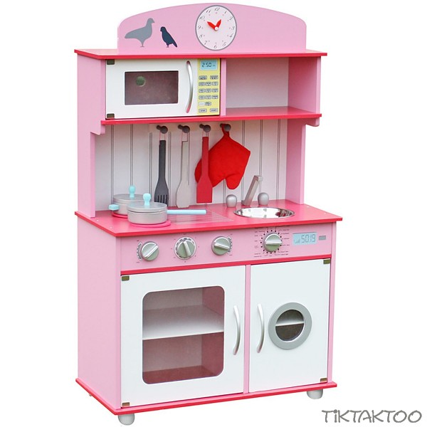 princess spielk che kinderk che aus holz pink rosa weiss. Black Bedroom Furniture Sets. Home Design Ideas