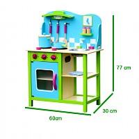 tolle spielküche in blau grün