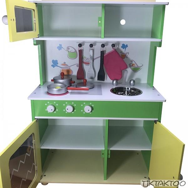 Kinderküche Spielküche aus Holz Kinderspielküche Spielzeugküche ...