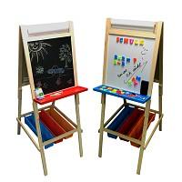 Standtafel Maltafel Schultafel Kreide- und Whiteboard-Tafel für Kinder