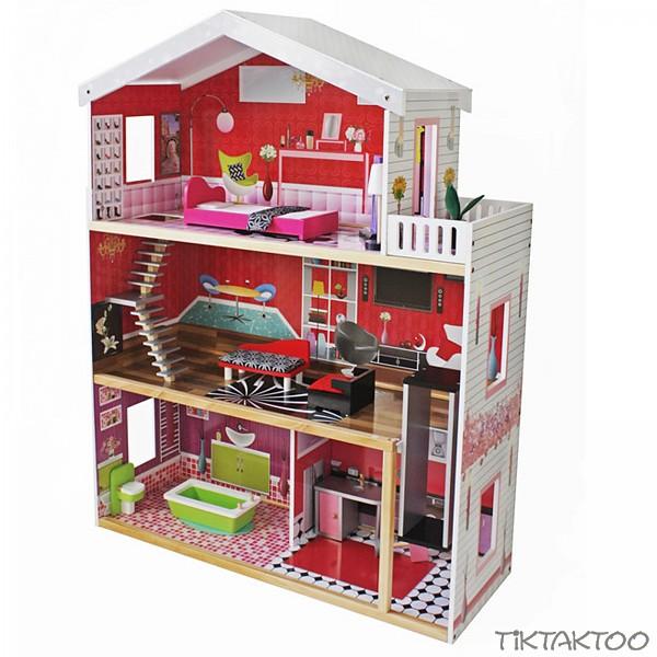 Barbiehaus Aus Holz : xxl barbie puppenhaus residenz luxus barbiehaus aus holz ~ Watch28wear.com Haus und Dekorationen