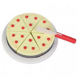 Vanilletorte / Erdbeertorte Torte zum Teilen für Kaufladen Spielküche Kinderküche