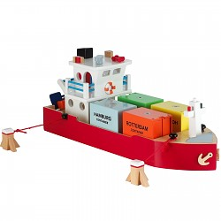 New Classic Toys - Containerschiff Frachtschiff mit Container