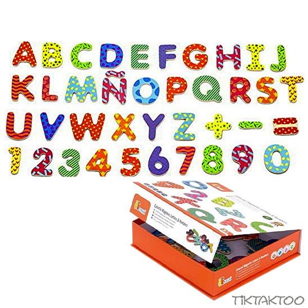 77 Holzbuchstaben ABC Buchstaben Magnet Holz Tafel