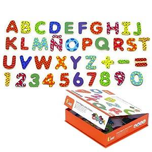77 Holzbuchstaben ABC Buchstaben Magnet Holz Tafel Magnetbuchstaben Lernspiel