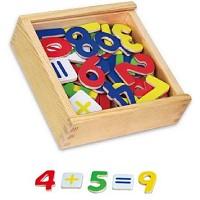 Kinder Holz Magnetzahlen 37 teil. Kühlschrank Magnet Mathe lernen Holz Spielzeug