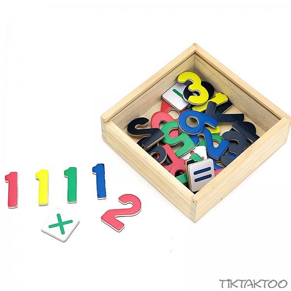 Kinder Holz Magnetzahlen 37 teil. Kühlschrank Magnet Mathe lernen ...
