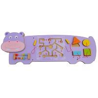 Hippo Nilpferd Wandspiel Wand-Spieltafel