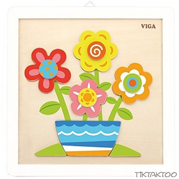 Holzpuzzle Bemalen Mal Set Blumen Für Kinder Ab 3 Jahre Ausmalbild