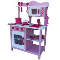 Pink Rosa Kinderküche Spielküche aus Holz Kinderspielküche Spielzeugküche Holzküch