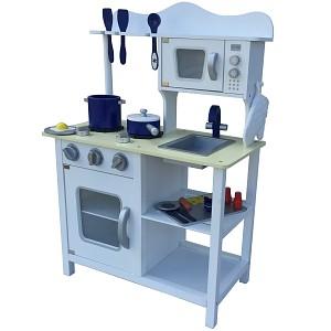 Weisse Kinderküche Spielküche aus Holz Kinderspielküche Spielzeugküche Holzküche