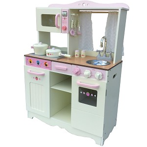 xxl kinderk che creme spielk che aus holz kinderspielk che im vintage look tiktaktoo. Black Bedroom Furniture Sets. Home Design Ideas