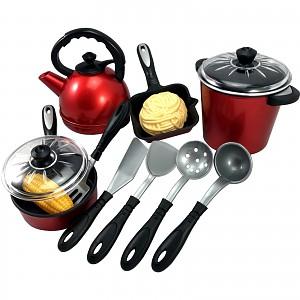 Kochset Töpfe, Wasserkessel und Pfanne mit Zubehör, 13 teiliges Set