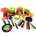 kleine Spielküche inkl. Puppengeschirr Töpfe und Pfanne
