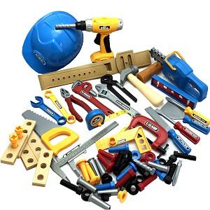 Werkzeugset 70 teilig Akkuschrauber Kettensäge Hammer Schraubendreher