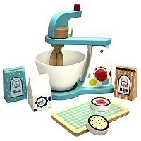 Küchenmaschine Mixer-Set aus Holz mit Zubehör