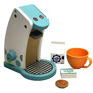 Kaffeemaschine aus Holz Kaffeepadmaschine