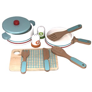 Küchenset bestehend aus Topf, Pfanne etc 10-teilig