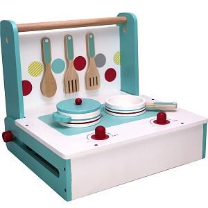 Holz-Spielküche klappbar zum Mitnehmen