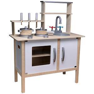 Holz-Kinderküche weiß Spielküche Holzküche