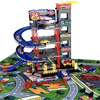 5 Ebenen Parkgarage LUXUS mit Spielteppich und 6 Autos
