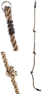 Knotenseil mit 2 Ringen PPØ18mm Länge 2,00m