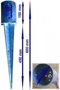 Einschlagbodenhülse rund Ø 101 mm