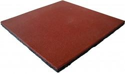 Fallschutzmatte Gummimatte Rot/braun 25 mm