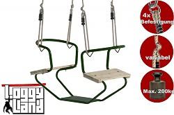 Doppelschaukel Metall Doppelsitzschaukel Gesicht zu Gesicht