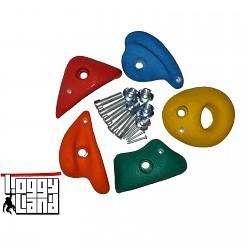 Klettersteine mittel farbig sortiert 5er Set