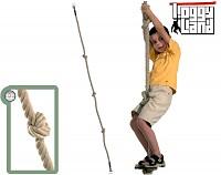 Kletterseil mit drei Knoten - Knotenseil