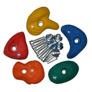 Klettersteine klein farbig sortiert, 5er Set