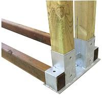 Stapelhilfe für Brennholz - Aufbaubeispiel