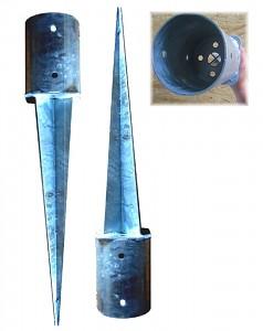 2er Set Einschlagbodenhülsen Ø121mm