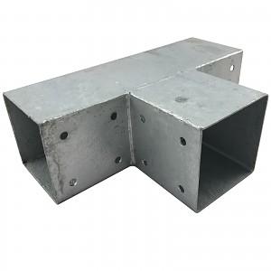 Holzverbinder, Eckverbinder, Pfostenverbinder für 3 x Kantholzbalken 90 x 90 mm