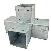 Holzverbinder, Eckverbinder, Pfostenverbinder für 4 x Kantholzbalken 90 x 90 mm