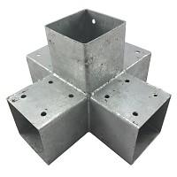 Holzverbinder, Eckverbinder, Pfostenverbinder für 5 x Kantholzbalken 90 x 90 mm