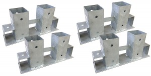 4er Set Stapelhilfe für Brennholz