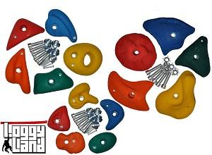 Klettersteine-Set 15 Stück gemischt Größe S, M u. L