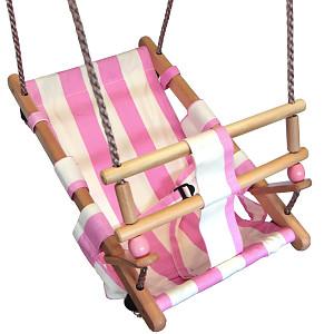 Babyschaukelsitz pink/weiß
