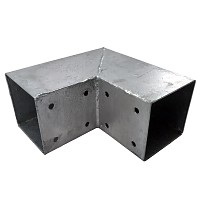 Holzverbinder, Eckverbinder, Pfostenverbinder für 2 x Kantholzbalken 70 x 70 mm